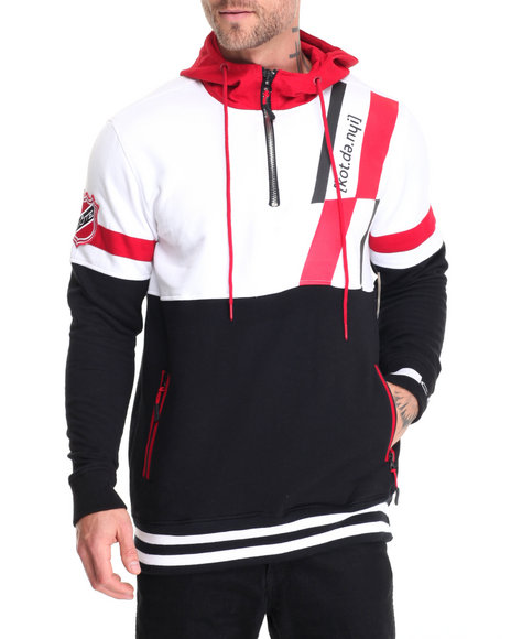 Cote De Nuits - Men Black Color Block Hoodie