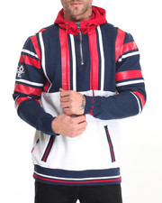 Men - Striped Color Block Hoodie