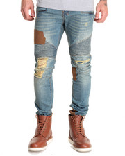 Jeans & Pants - Ducati Leather Neck Moto Denim Jeans
