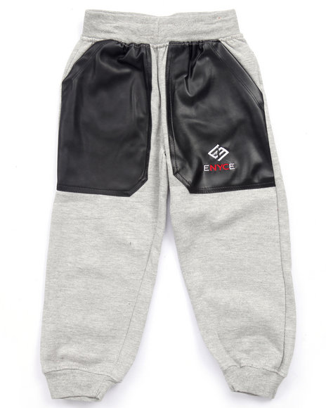 Boys Joggers with Leather