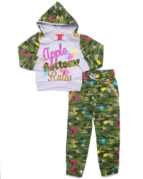 Apple Bottoms - Girls Camo 2 Pc Camo Jogger Set (4-6X)
