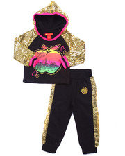 Apple Bottoms - 2 PC SEQUIN TRIM JOGGER SET (2T-4T)
