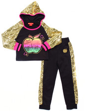 Sizes 4-6x - Kids - 2 PC SEQUIN TRIM JOGGER SET (4-6X)