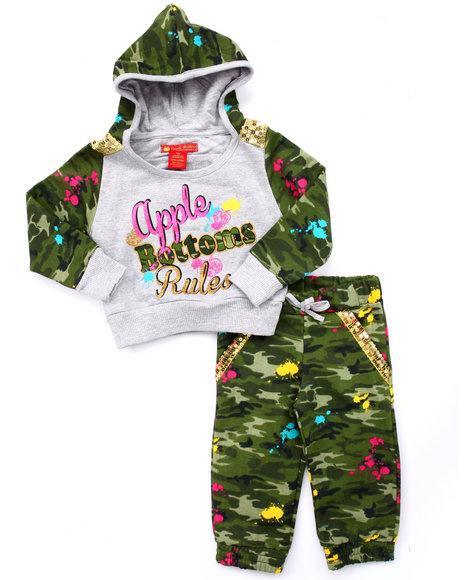 Apple Bottoms - Girls Camo 2 Pc Camo Jogger Set (Infant) - $24.99