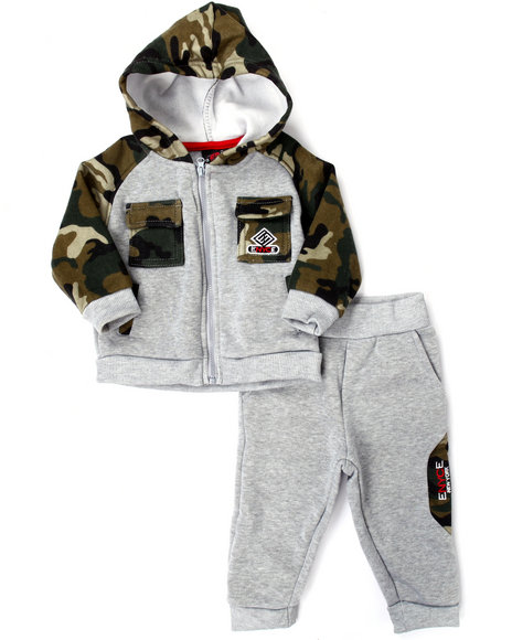 Enyce - Boys Grey Military Hoody & Jogger Set (Infant)