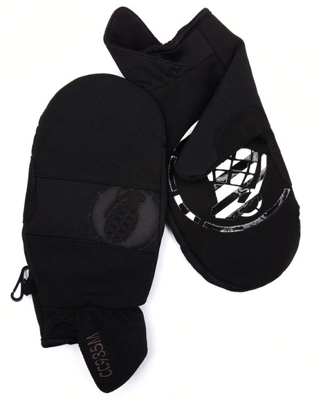 Grenade - Men Black Pipe Mitts