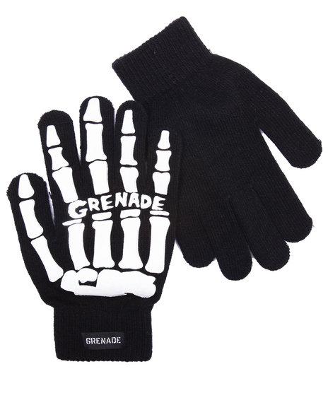 Grenade Men Bones Knit Gloves White 1SZ
