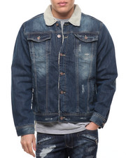 Denim Jackets - Buffalo Check / Sherpa - Lined Denim Jacket