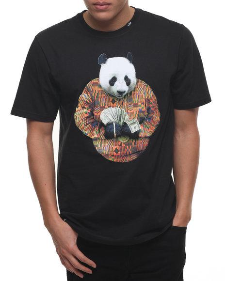 Lrg Men Big Panda T-Shirt Black Small