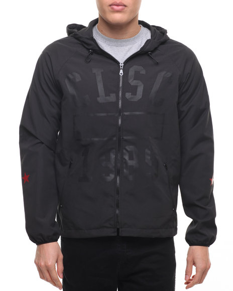 Clsc - Men Black Physical Windbreaker Jacket