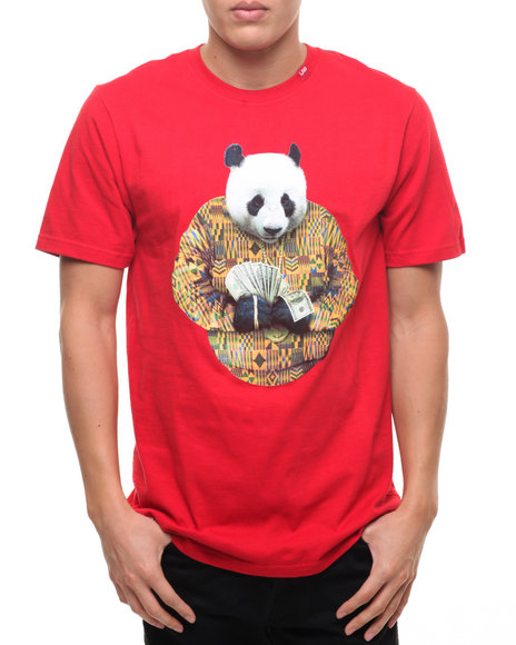 Lrg Men Big Panda T-Shirt Red Small