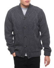 Sweatshirts & Sweaters - American Stitch KNIT CABLE CARDIGAN SWEATER