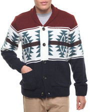 Men - American Stitch Aztec Bottom Up Sweater W/ Elbow Patch