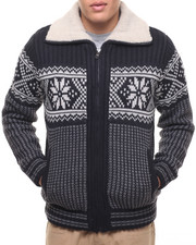 Men - American Stitch NORDIC LAND ZIP HOODIE W/ ELBOW PATCH
