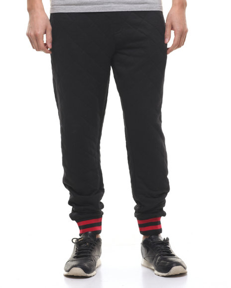 Vampire Life - Men Black Vl Quilted Sweatpants - $30.99