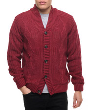 Men - American Stitch KNIT CABLE CARDIGAN SWEATER