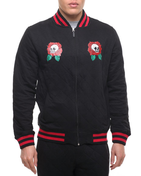 Vampire Life - Men Black Vl Quilted Bomber