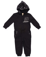 Girls - FLEECE JUMPSUIT W/ SEQUIN HOOD (INFANT)