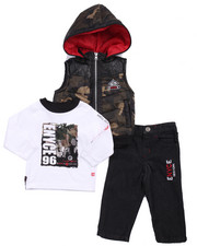 Sets - 3 PC SET - CAMO VEST, TEE, & JEANS (INFANT)