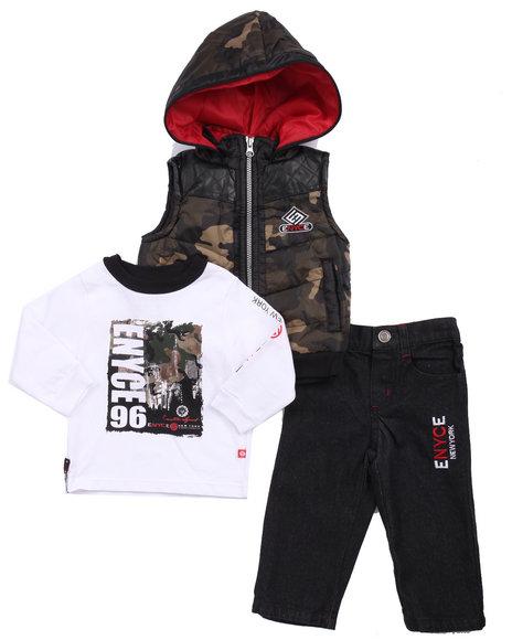 Enyce - Boys Camo 3 Pc Set - Camo Vest, Tee, & Jeans (Infant)
