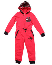 Sizes 4-6x - Kids - FLEECE JUMPSUIT W/ SEQUIN HOOD (4-6X)