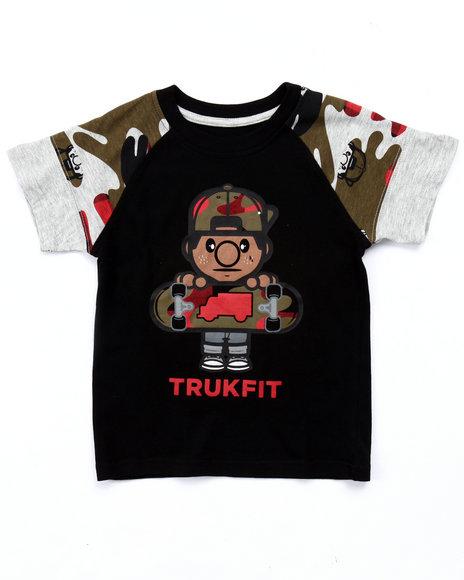 Trukfit - Boys Black Camo Lil' Tommy Skate Tee (4-7)