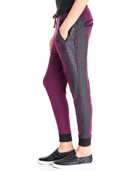 La Belle Roc - Women Purple Drop Crotch Jogger