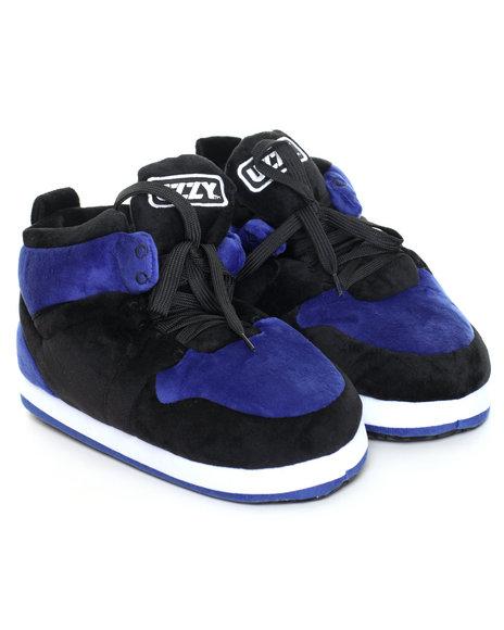Black,Blue Slippers
