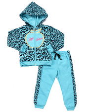 Girls - 2 PC ANIMAL PRINT JOGGER SET (4-6X)
