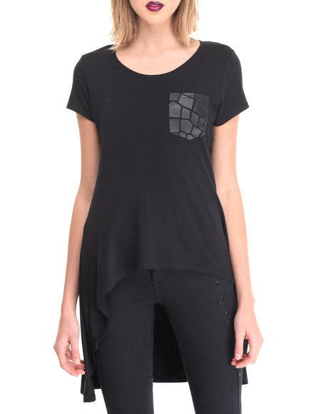 La Belle Roc - Women Black T-Shirt Dress