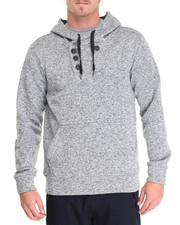 Men - Heather Yarn Sweater Fleece Pullover Hoodie