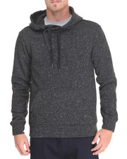 Hoodies - Heather Yarn Sweater Fleece Pullover Hoodie