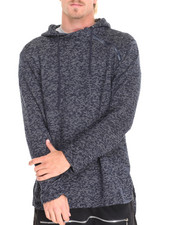 Men - American Stitch LIGHTWEIGHT HEATHER KNIT PULLOVER HOODIE