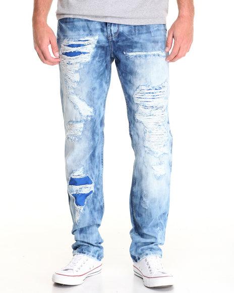Buyers Picks - Men Light Wash Radius Rip - And Repair Denim Jeans