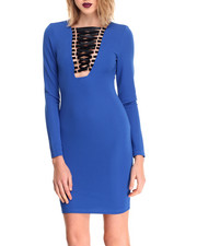 Women - Lace Me Up Dress