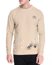 Men - FRENCH TERRY WRECKED CREWNECK