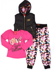 Apple Bottoms - 3 PC PUFFER VEST, TEE, & FLORAL JOGGERS (4-6X)