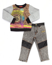 Apple Bottoms - 2 PC MEDALLION SWEATSHIRT & JEANS (2T-4T)