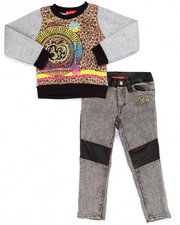 Sizes 4-6x - Kids - 2 PC MEDALLION SWEATSHIRT & JEANS (4-6X)