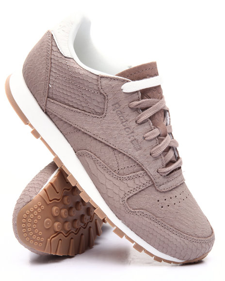 buy classic leather clean exotic sneakers women 39 s footwear from reebok find reebok fashions. Black Bedroom Furniture Sets. Home Design Ideas