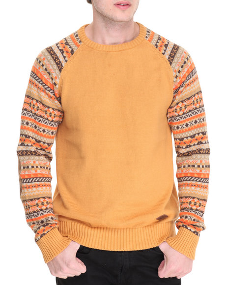 Parish - Men Brown Fairisle Sweater