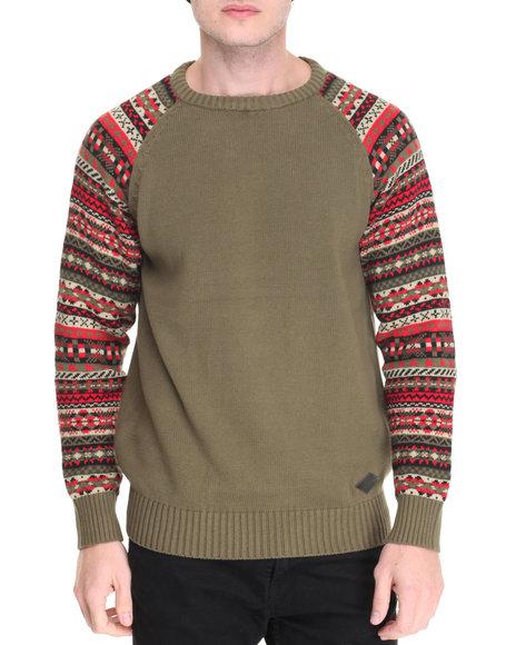 Parish - Men Green Fairisle Sweater - $59.99