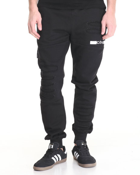 Flysociety - Men Black Distressed Jogger