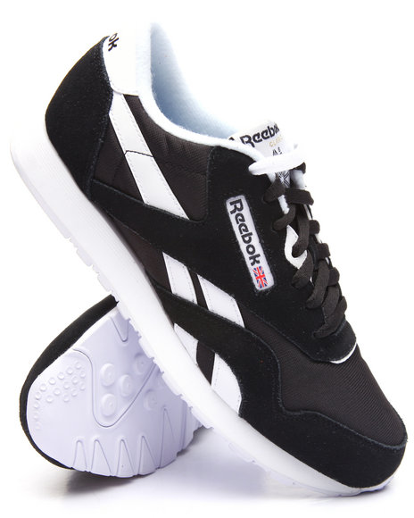 Reebok - Men Black Classic Leather Nylon