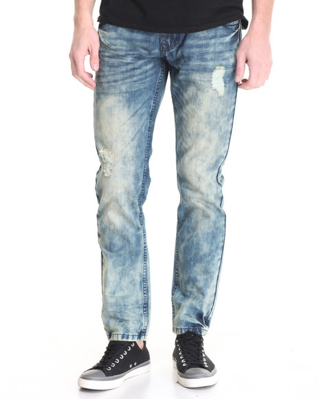 Buyers Picks - Men Dark Wash Washed Out Denim Jeans