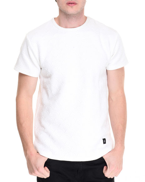 Vsop - Men White Thor Quilted S/S Tee