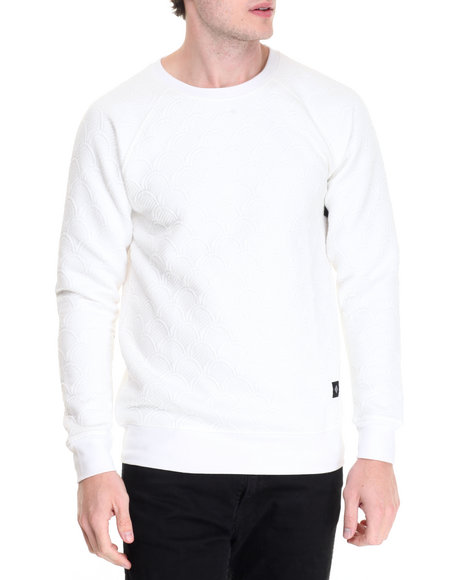 Vsop - Men White Thor Quilted Crew Sweatshirt