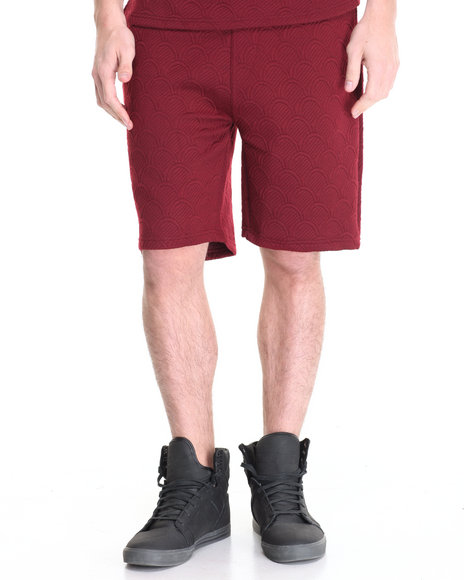 Akomplice Men Thor Quilted Sweat Shorts Red Medium
