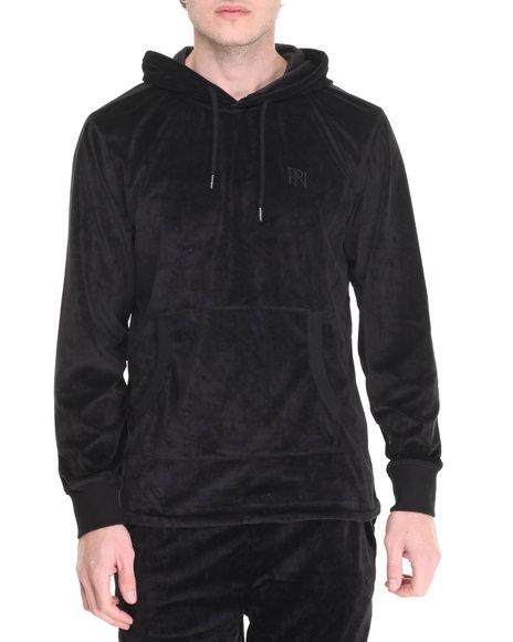 Parish - Men Black Velour Hoody - $37.99