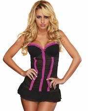 Intimates & Sleepwear - Cleavage Lace Chemise Set